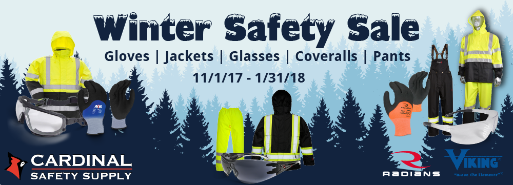 Cardinal Safety Supply Winter Safety Sale Banner