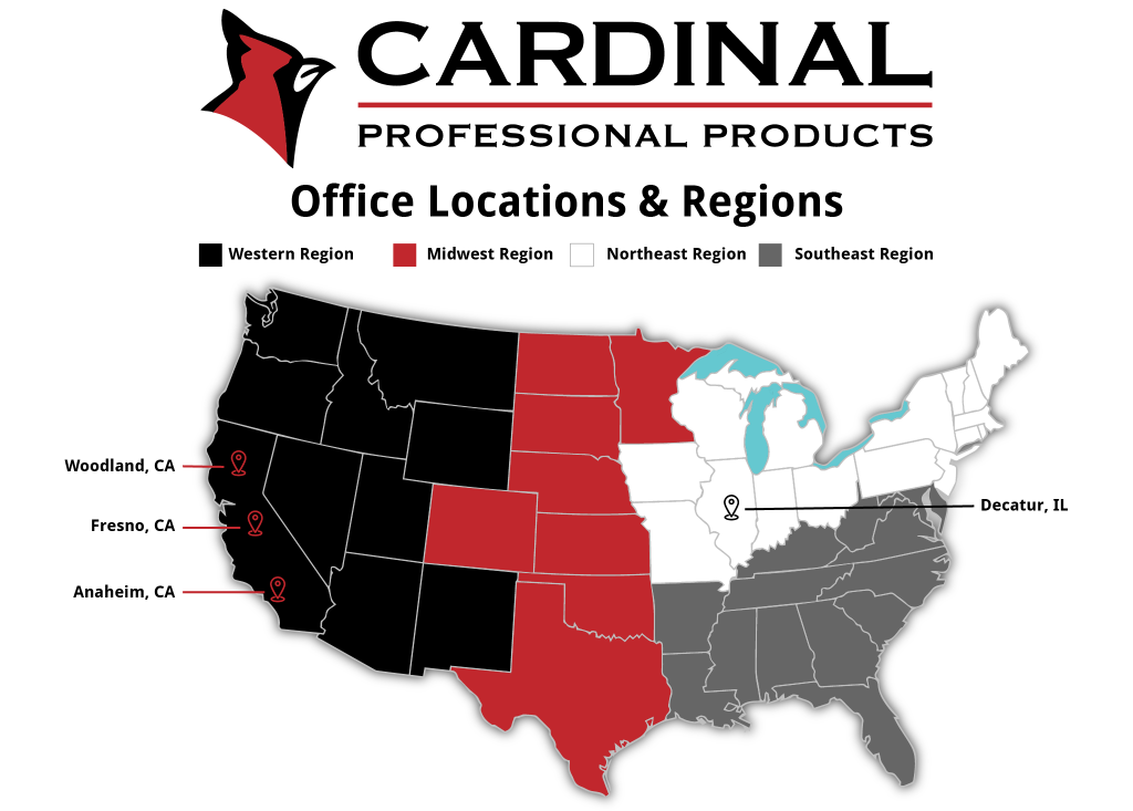 Cardinal Professional Products office locations